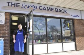 Mike Subtenlyn is pictured at DASCH's The Scrap Came Back store, which is located at 153 St. Anne's Rd.