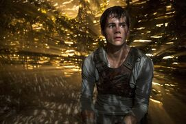 In this image released by 20th Century Fox, Dylan O'Brien appears in a scene from the film,