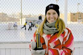 Sarah Tone pictured at last year's inaugural Between the Pipes tournament.