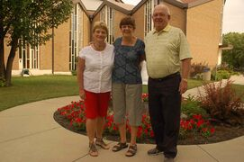 Kathy Sangster of John Black Memorial United Church, Diana Tardi of St. Alphonsus Roman Catholic Church and Campbell McIntyre of St. Saviour Anglican Church are planning a tri-ecumenical service between the three parishes on Aug. 27.