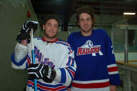 Transcona Railer Express captain Greg Myall (left) and new recruit Dane Mistelbacher (right) are looking forward to another MMJHL season.