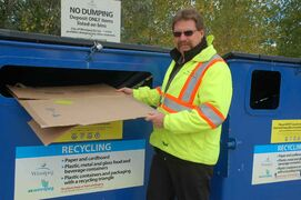 City of Winnipeg supervisor of waste diversion Randy Park is shown at the new recycling depot on Panet Road.