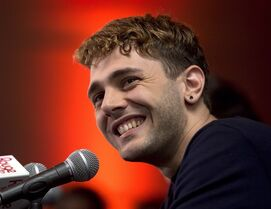 Actor and director Xavier Dolan speaks to the media at a news conference, Monday, May 26, 2014 in Montreal. Dolan is heading back to the Cannes Film Festival, this time as a jury member. THE CANADIAN PRESS/Ryan Remiorz