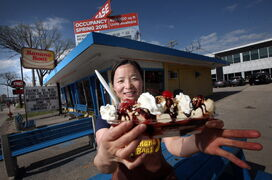 Banana Boat owner Hui Chen is still serving up her business's tasty namesake, though the property is going to be developed.
