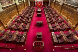 The Senate chamber on Parliament Hill is seen May 28, 2013 in Ottawa. THE CANADIAN PRESS/Adrian Wyld