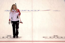 Jennifer Jones at the World Women's Curling Championship in Sapporo, Japan.