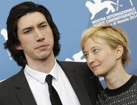 From left, actors Adam Driver and Alba Rohrwacher pose during the photo call for the movie Hungry Hearts at the 71st edition of the Venice Film Festival in Venice, Italy, Sunday, Aug. 31, 2014. (AP Photo/Andrew Medichini)