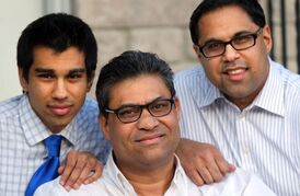 Hemant Shah, with his two sons Hiten and Hiren, came from a privileged background in India, but worked as a parking lot attendant when he first came to Winnipeg. Now he is the go-to guy for business ventures between India and Manitoba.