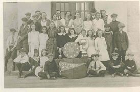 Salisbury Morse Place School celebrates 100 years in community on April 23. Photos, like the one above (take circa 1920), and other memorabilia will be on hand. All are welcome to attend the festivities.