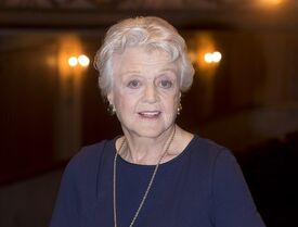 FILE - In this Jan. 23, 2014 file photo, actress and singer Angela Lansbury is photographed on stage at the Gielgud Theatre in central London, as she returns to the West End this spring for the first time in nearly 40 years, with the play,