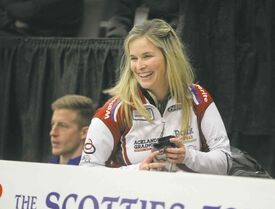 Jennifer Jones has won four straight games with a combined score of 37-9 during the opening two days of the provincial Scotties.