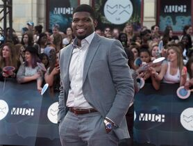 P.K. Subban arrives on the red carpet at the 2014 Much Music Video Awards in Toronto on Sunday June 15, 2014. Subban is keeping quiet about negotiations on a new contract with the Montreal Canadiens. THE CANADIAN PRESS/Nathan Denette