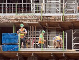 Construction workers are picture in Montreal on July 2, 2013 .THE CANADIAN PRESS/Ryan Remiorz