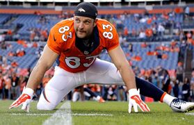 FILE - In this Aug. 23, 2014, file photo, Denver Broncos wide receiver Wes Welker (83) stretches prior to an NFL preseason football game against the Houston Texans in Denver. Cleared to play following his third diagnosed concussion since November, the Broncos receiver will get back in a game Sunday, when Denver travels to Seattle for a Super Bowl rematch. (AP Photo/Jack Dempsey, File)