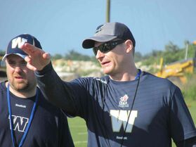 Bombers head coach Mike O'Shea has a different style of coaching.