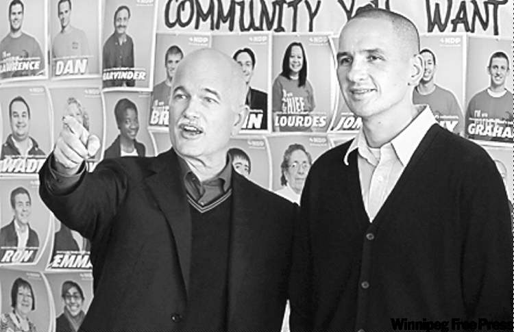 Kevin Chief (right) and NDP Leader Jack Layton
