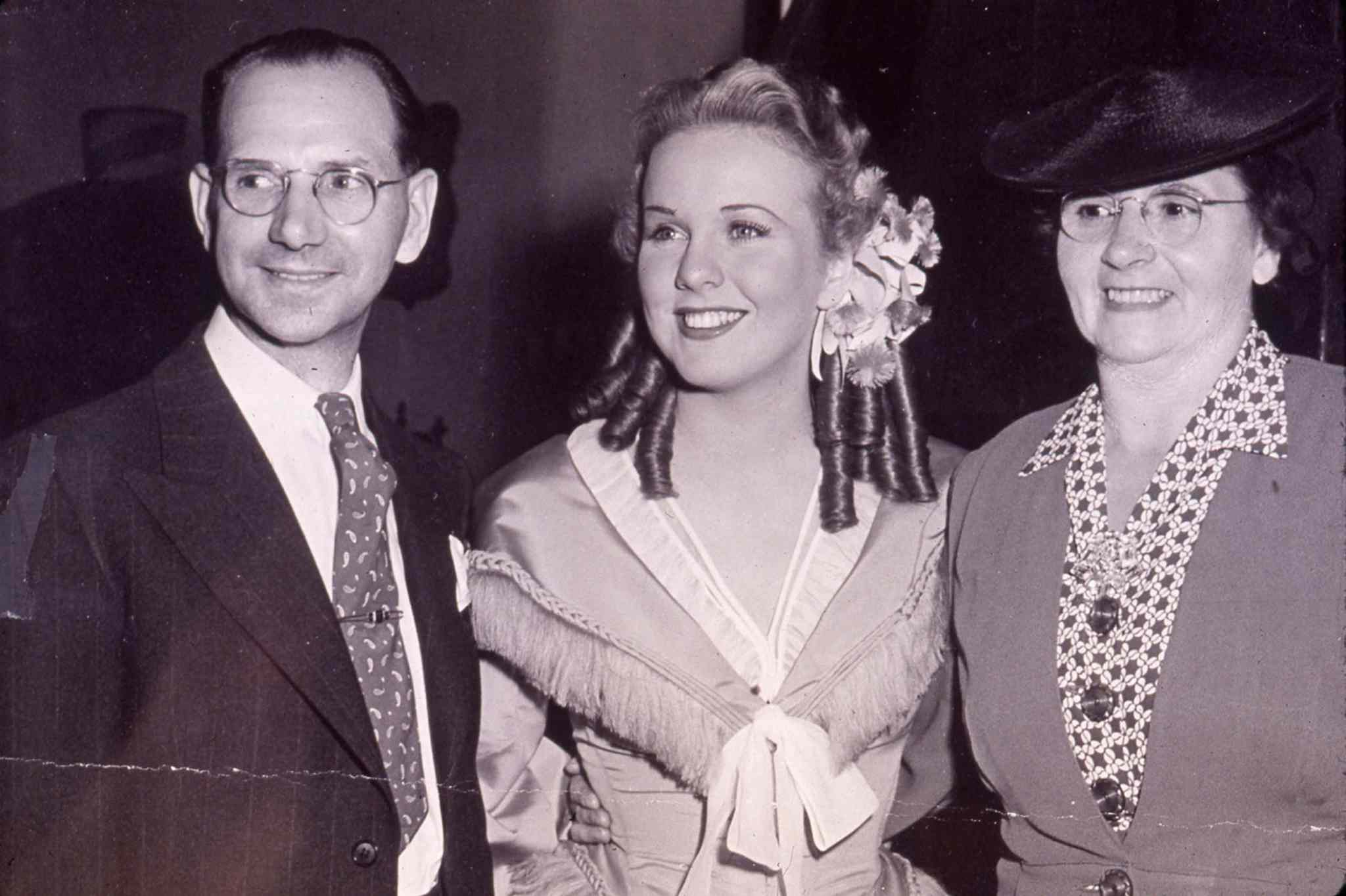 Deanna Durbin with her parents, James and Ada Durbin.
