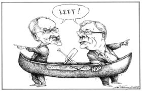 October 2009 -  Steve Ashton and Greg Selinger first faced off in 2009 for the NDP leadership, after Gary Doer left to become Canada's ambassador to U.S. (Dale Cummings / Winnipeg Free Press)