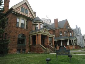 This Dec. 3, 2014 photo shows The Inn at Ferry Street in Detroit's Midtown neighborhood. The bed-and-breakfast is located in four restored Victorian homes and two carriage houses on a block in a historic district in the Midtown neighborhood, which is experiencing a resurgence despite Detroit's financial troubles. The Detroit Institute of Arts and Wayne State University are nearby. (AP Photo/Beth J. Harpaz)