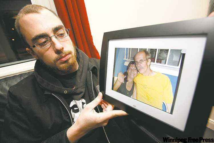 Josh Coy holds a photo of his father, Greg Coy, and Coy's wife, Susanna, who died during a landslide in Panama. The family, including Coy's daughter, Kristin Coy (below), is worried about Greg Coy's deteriorating condition in a Panama hospital and is raising funds to fly him out of the country by air ambulance.