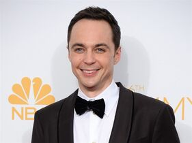 "FILE - In this Aug. 25, 2014 file photo, Jim Parsons poses in the press room after winning the award for outstanding lead actor in a comedy series for his work on ""The Big Bang Theory"" at the 66th Annual Primetime Emmy Awards in Los Angeles. Producers on Thursday said Parsons will star in a stage adaptation of the humor book"