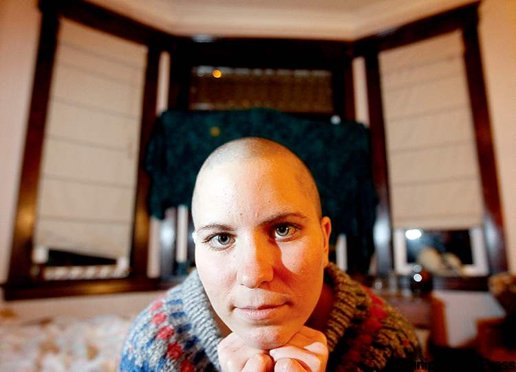 Stephanie Lozinski shaved her head in support of her uncle, who was dying of cancer.