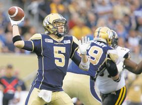 TREVOR HAGAN / WINNIPEG FREE PRESS files Winnipeg Blue Bombers quarterback Drew Willy returns to the starting lineup tonight after missing last week's tilt against the Calgary Stampeders.