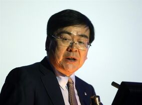 FILE - In this Nov. 26, 2010 file photo, Cho Yang-ho, the head of South Korea's bid for the 2018 Winter Olympics, speaks at the 39th General Assembly of the European Olympic Committees in Belgrade, Serbia. South Korean media is reporting that Cho, who led PyeongChang's successful bid to host the Winter Olympics, is set to become chief organizer of the 2018 Games. (AP Photo/Marko Drobnjakovic, File)