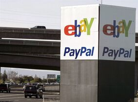 In this Jan. 19, 2011 photo, an eBay/PayPal sign is shown in San Jose, Calif. THE CANADIAN PRESS/AP, Paul Sakuma