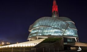 The Canadian Museum of Human Rights in Winnipeg is shown in a handout photo. THE CANADIAN PRESS/HO-Canadian Museum of Human Rights-Aaron Cohen