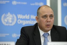 Roberto Morales Ojeda, Minister of Public Health, Cuba speaks during a press conference about the support to Ebola affected countries, at the headquarters of the World Health Organization, WHO, in Geneva, Switzerland, Friday, Sept. 12, 2014. Cuba's health ministry said Friday it is sending more than 160 health workers to help stop the raging Ebola outbreak in Sierra Leone, providing a much-needed injection of medical expertise in a country where health workers are in short supply. World Health Organization chief Dr. Margaret Chan said the agency was extremely grateful for the help. (AP Photo/Keystone,Martial Trezzini)