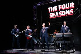 Nicholas Dromard, Keith Hines, Hayden Milanes and Drew Seeley from the musical