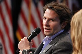 Actor Bradley Cooper speaks on a panel during the launch event for