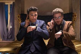 James Franco, left, and Seth Rogen in The Interview, which has been pulled from theatres after the controversial comedy was the target of terrorist threats.