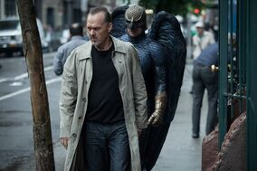 FILE - This file photo released by Twentieth Century Fox shows Michael Keaton, left, as Riggan in a scene from the film,