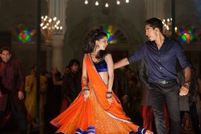 This image released by Fox Searchlight Films shows Dev Patel, right, and Tina Desai in a scene from