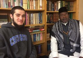 Samyr El-Refaie (left) and Chaka Muhammad Benson, seen at the Islamic Center of Omaha on Jan.20, 2014, are among the many Nebraskans unaware of an old law cited by the Parti Quebecois as a precedent for its controversial values charter. THE CANADIAN PRESS/Alex Panetta