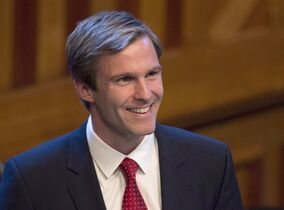 Brian Gallant smiles in Fredericton on October 7, 2014. Gallant says he will scrap a contentious regulation that restricts access to abortion in the province. THE CANADIAN PRESS/Andrew Vaughan