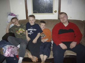 Four brothers (from left) Timmy, 12, Danny, 10, Henry, 9, and Bobby Froese, 15  died in an overnight fire in a two-storey farmhouse in rural southern Manitoba, despite the efforts of their parents and older brother to save them.
