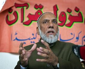 Imam Syed Soharwardy, leader of The Islamic Supreme Council of Canada, speaks in Calgary, in a Aug. 31, 2010 photo. Soharwardy says he intends to reach out to other imams to make sure that new converts to Islam are watched closely for signs of radical beliefs. THE CANADIAN PRESS/Jeff McIntosh