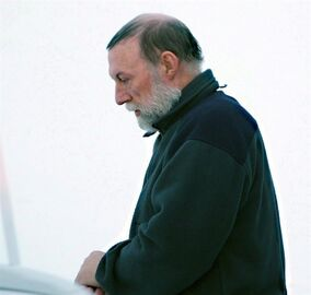 Eric Dejaeger leaves an Iqaluit, Nunavut courtroom Jan. 20, 2011. Prosecutors are asking an Arctic court to send a defrocked priest convicted of sexually abusing dozens of Inuit children to jail for 25 years.THE CANADIAN PRESS/Chris Windeyer