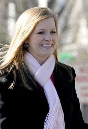 FILE - In this Dec. 10, 2011 file photo, former prisoner of war Jessica Lynch is featured in the South Charleston, W.Va. Christmas Parade. Lynch has landed a lead role in a Christian film. Morgantown-based JC Films is producing