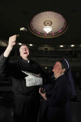 Rev. Mark Gnutel and Sister Janet Kozak will take Perogy Supper Miracle to the Metropolitan stage.