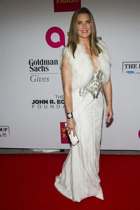Brooke Shields attends the Elton John AIDS Foundation's 13th Annual