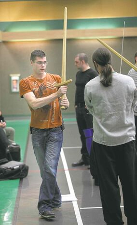 Cody Skillen teaches German longsword  techniques to interested students every week,  whether they are history buffs, interested in the legends of King Arthur or just on a quest for an  old-fashioned workout.