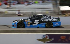 Kasey Kahne drives during the Brickyard 400 auto race at Indianapolis Motor Speedway in Indianapolis, Sunday, July 27, 2014. (AP Photo/R Brent Smith)