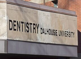 The Dalhousie University dentistry building is seen in Halifax on Jan. 6, 2015. Male dentistry students from Dalhousie University who participated in a Facebook page that contained sexually violent content about female classmates have expressed remorse in an open letter to the community. THE CANADIAN PRESS/Andrew Vaughan