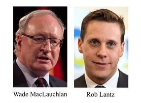 Wade MacLauchlan and Rob Lantz and shown in 2015 photos. THE CANADIAN PRESS/Andrew Vaughan