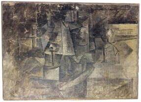 "This undated photo provided by the United States Department of Justice, shows a cubist painting entitled ""The Hairdresser"" by Pablo Picasso. Authorities say the painting worth millions of dollars was stolen in France and smuggled into the U.S. by someone who falsely labeled it as an"