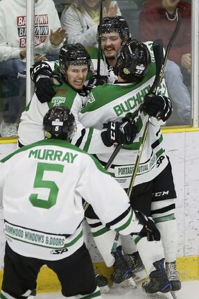 131c2bcd JOHN WOODS / WINNIPEG FREE PRESS FILES Portage Terriers forward Ty  Barnstable (centre) played
